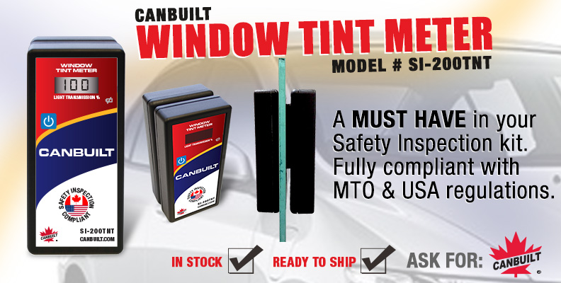 Canbuilt Window Tint Meter, Fully Compliant with Canadian and USA requirement, 2-Piece unit