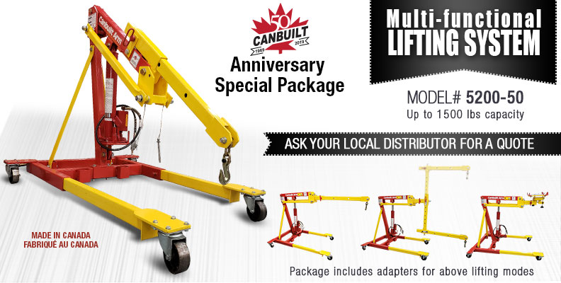 Multi-Functional Lifting System: 4 lifting modes in one crane.