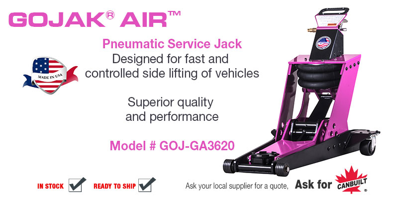 Pneumatic Service Jack, Designed for fast and controlled side lifting of vehicles.