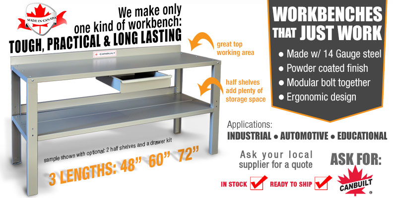 Workbenches for Industrial, Automotive and educational applications.