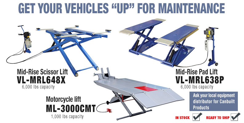 Mid-Rise vehicle and motorcycle lifts