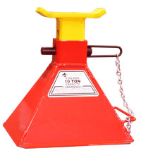 10 Ton Safety Stand:<br />Pin Type - Shorty Stand   Model Number: 10TSH