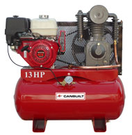 Air Compressor: 13 HP, Gas Engine Powered, Horizontal   Model Number: C-1330HCICWC