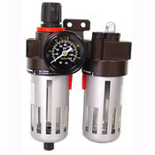 "2 Piece Filter/Lubricator/Regulator, 3/8"" NPT  Model Number: FLR-238"