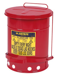 10 Gallon, Oily Waste Can with foot pedal  Model Number: JR-09300