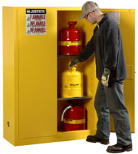 45 Gallon, Manual Door Safety Cabinet  Model Number: JR-25450