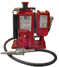 20 Ton Dual Control Air/Manual Bottle Jack  Model Number: SJ-40201T